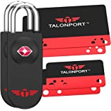 Keyless TSA Approved Luggage Lock with Lifetime Card Keys & No Combo to Forget (2 Pack)