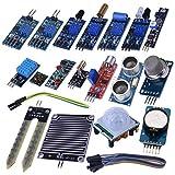 Kuman Arduino用センサー DIY キット センサーモジュール 電子部品 20-in-1 DIY Arduino用センサー 初心者 UNOR3 実験用 Arduino UNO R3 Mega2560 Nano/Raspberry Pi 3 2 B Bに適用 K62