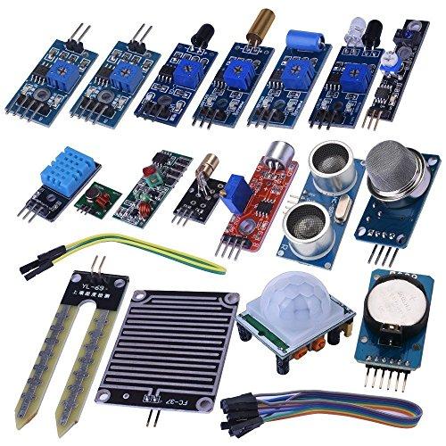 Kuman 20個 Arduino用センサー DIY キット センサーモジュール 電子部品 初心者 UNOR3 実験用 Arduino UNO R3 Mega2560 Nano/Raspberry Pi 3 2 B Bに適用 K62 -