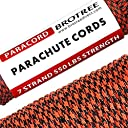 Brotree 【在庫処分】 パラコード 4mm テント ロープ 30m ガイロープ 7芯 ミルスペック 耐荷重250kg 強風対策アウトドア キャンプ サバイバル固定用ひも