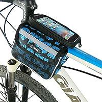 自転車 フロントバッグ 防水ポーチバイクフレームバッグ、バイクフロントチューブフロントチューブバッグ5.5インチスマートフォンに最適 多機能 サイクルバッグ (色 : 赤)