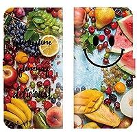 【 ankh 】 手帳型ケース 全機種対応 【 Xperia acro HD SO-03D エクスペリア アクロ HD SO-03D専用 】 おしゃれ にこ smile にこちゃん マーク フルーツ 果物 りんご ブック型 二つ折り レザー 手帳カバー スマホケース スマートフォン