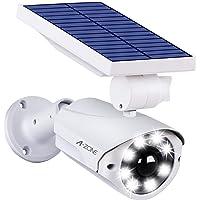 センサーライト 屋外 ソーラーライト A-ZONE 人感センサーライト 防犯カメラ型 IP66防水・防塵 省エネ 太陽光…