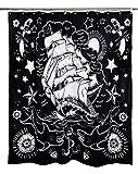Too Fast Nautical Tattooファブリックシャワーカーテン