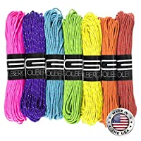 (Reflective Neon Yellow/Neon Pink/Neon Orange) - Golberg 1.8mm Fluorescent Reflective 43kg Paracord - Many Colours Available - 1.8mm Cord in 20 Metres - Perfect for Guyline, Tent Rope, Camping, Hiking