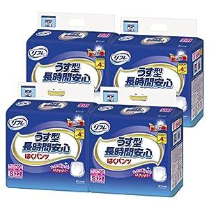 【ケース販売】リフレ はくパンツ うす型長時間安心 Sサイズ 22枚×4個 【ADL区分:介助で歩ける方】