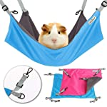 Metacrafter Pet Hammock Hamster Hanging Toy, Small Pet Pad Bed for Guinea Pig,Chinchilla,Kitten,Cat,Ferret,Mice,Rabbit...
