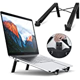 Portable Laptop Desk Stand Foldable Adjustable Height Portable Laptop Stands for MacBook and Notebook Black