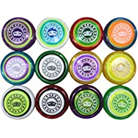 Plastic Professional Yoyos Made in Mexico (Set of 12 Assorted Colors) by Juguetes Wiwis [並行輸入品]
