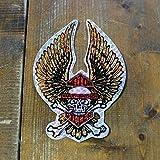 1980-90年代 デッドストック ヴィンテージ HARLEY-DAVIDSON ハーレーダビッドソン クロスボーン ウイング ホログラム ステッカー 大