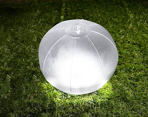 グリーンハウス ビーチボール形防水LEDソーラーランタン