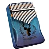 Far win Kalimba - 17 Keys Thumb Piano - with Study Instruction and Tune Hammer, Portable Mahogany African Wood Finger Piano,