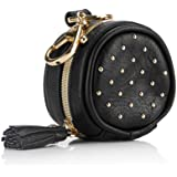 """Chelsea + Cole For Itzy Ritzy Studded Pacifier Case with Clip; Pacifier Charm Pod Includes Clasp, Measures 2.5"""" in Diameter &"""