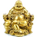 Fengshui Decor Laughing Buddha Statue for Lucky & Happiness, God of Wealth Statue,Brass Buddhist Statues and Sculptures Home