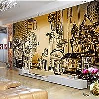 Xueshao 壁紙3Dカスタム壁紙レトロノスタルジックヨーロッパスタイルの背景リビングルームのロビーの壁紙壁画-250X175Cm