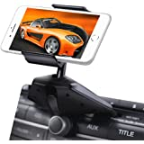 Upgraded IPOW One Button Installation CD Slot Phone Holder, IPOW Car Mount Cradle Stand for iPhone X 8 8P 7 7P SE 6s 6 6P 5S,