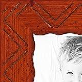 """画像フレームChevron Carving On Cherry Stained木製。。1.125"""" Wide 17 x 17″ 2WOMJ40063-17×17"""