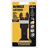 DEWALT Dwa4204 Wide Titanium Oscillating Wood with Nails Blade,Black