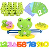 GILOBABY Frog Balance Cool Math Game , Educational STEM Toy for Boys and Girls, Counting Game Gifts for Kids Age 3+ (63-Piece