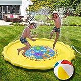噴水マット プレイマット 噴水おもちゃ 水遊び 親子遊び 裏庭遊び 膨らませるおもちゃ 暑さ対策 子供プレゼント ビーチボール付き Splash Play Mat