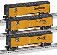 Lionel Trains Santa FeマップとスローガンReefer Cars ( 3 - Pack )