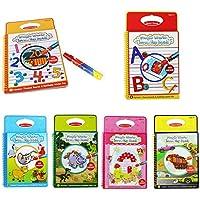 Coolplay魔法水図面帳マジックペンでカラーリングドゥードゥルボード動物ペイント( Pack of 6スタイル)