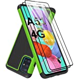 Dahkoiz Galaxy A51 Case with Tempered Glass Screen Protector [2 Pack], Armor Defender Cover Samsung Galaxy A51 Case Dual Laye
