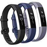 Pack 3 Replacement Band Compatible for Fitbit Alta Bands/Fitbit Alta HR Bands, Adjustable Replacement Soft Silicone Sport Ban
