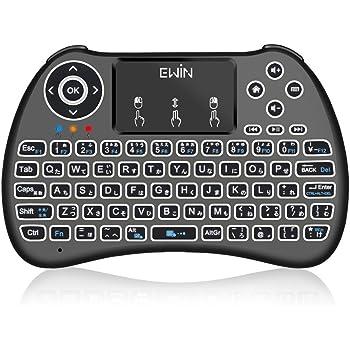 Ewin ミニキーボード Mini Keyboard 日本語JIS配列 2.4GHz 無線 タッチパッド搭載バックライト付き タッチパッド搭載 接続簡単!【日本語説明書と18ヶ月保証付き】