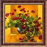 """アイビーゼラニウムFramed壁アートby Philip Craig–29.50W x 29.50h in。 30"""" X 30"""" オレンジ DSW01258"""