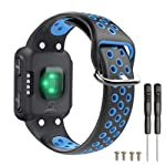 T-BLUER Compatible for Garmin Forerunner 35/30 Strap,Breathable Silicone Replacement Wristband Bracelet Accessory...