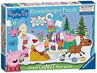 Ravensburger 5534ペッパピッグクリスマスジグソーパズルとドアハンガー