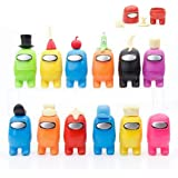 12Pcs Amongg Uss Cake Topper Cupcake Topper For Amongg us Party, Video Game Theme Party Supplies, Kids Birthday Gifts