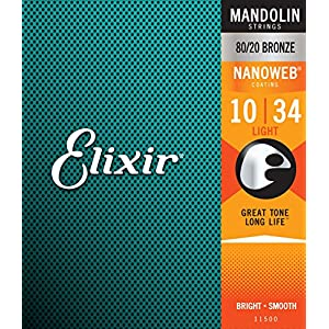 Elixir エリクサー マンドリン弦 NANOWEB Light .010-.034#11500 ループエンド仕様 【国内正規品】