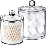 SheeChung Qtip Dispenser, Cotton, Clear, 10oz. & 20 oz.