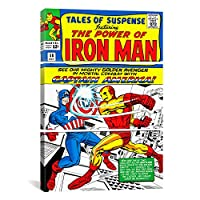 iCanvasART mrv29 3ピースMarvel Comic Book Iron Man Issueカバーno。58 by Marvel Comicsキャンバス印刷、60 by 40-inch、1.5インチDeep