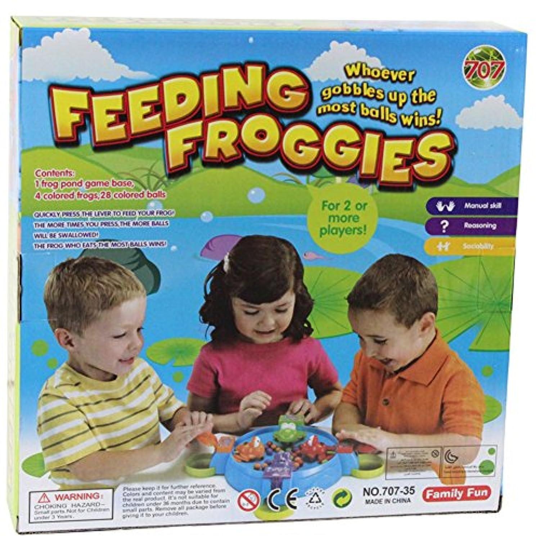 RODEA IN 子供用 餌やりシミュレーション ハングリーフロッグ 飲み込むビーズ ビーンズ ゲーム パズル ゲーム 学習 教育玩具