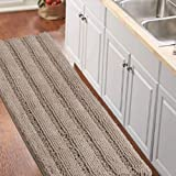 Non-Slip Bath Runners for Bathroom Luxurious Chenille Area Rug for Kitchen Machine-Washable Bath mats for Doormats/Tub,Size 5