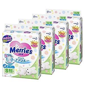 【Amazon.co.jp限定】(ケース販売) メリーズ テープ Sサイズ(4~8kg) さらさらエアスルー 328枚 (82枚×4)