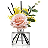 Cocod'or Rose Flower Reed Diffuser, Refreshing Air Reed Diffuser, Reed Diffuser Set, Oil Diffuser & Reed Diffuser Sticks, Hom