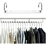 PanelTech Metal Magic Hangers 10 Pack Space Saving Clothes Hangers Heavy Duty Closet Organizer Clothing Hangers for Wardrobe