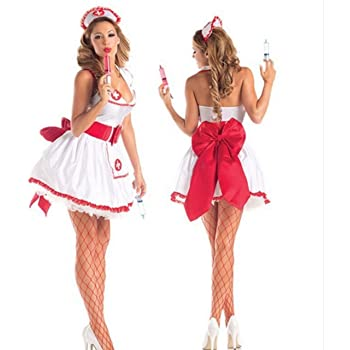K-line-T ナース 3点セット ワンピース コスプレ コスチューム ハロウィン 大人 衣装 仮装 ナース服 看護師 パーティー 余興
