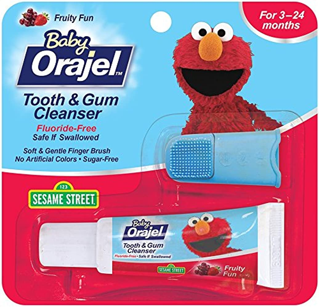 膨張する簡潔なモンク海外直送肘 Baby Orajel Tooth Gum Cleanser Mixed Fruit, Mixed Fruit 0.7 oz