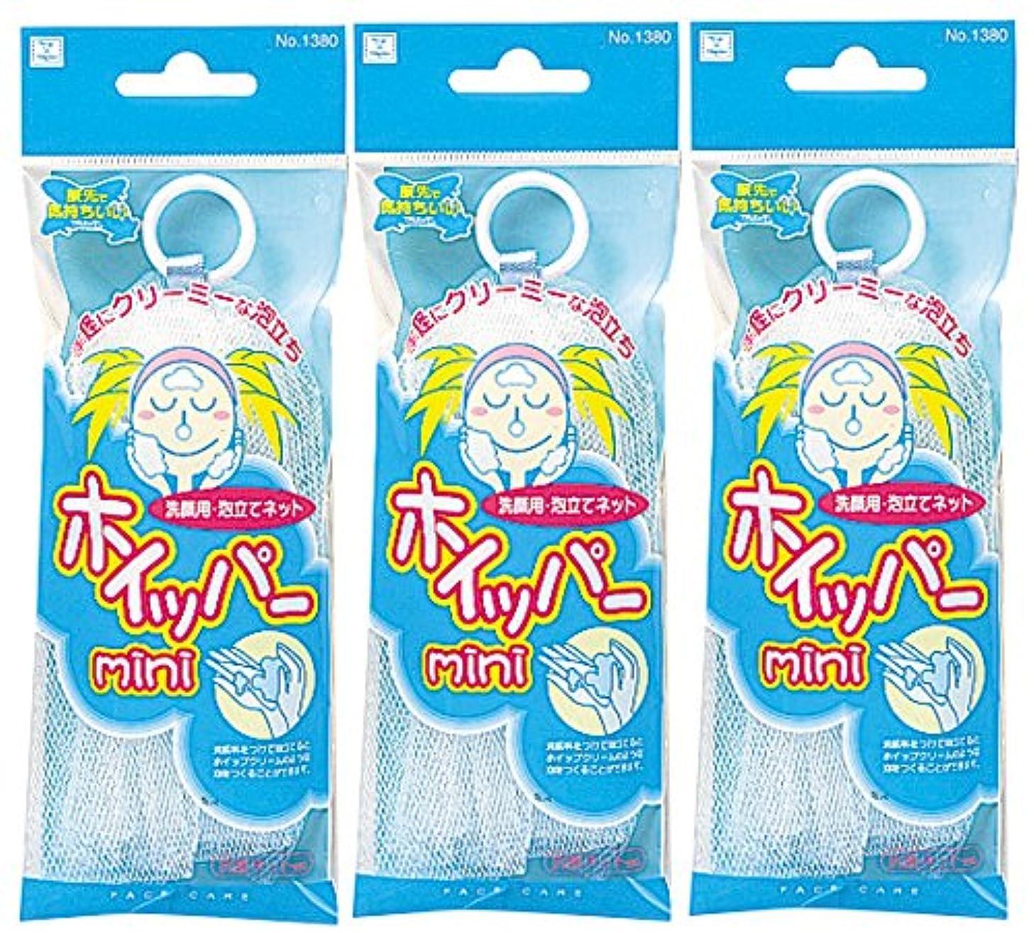 壮大普及ギャラリー小久保 洗顔ネット 手軽にクリーミーに泡立つ ホイッパーミニ 3個