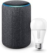 Echo (エコー) 第3世代 - スマートスピーカー with Alexa、チャコール + TP-Link Kasa スマート LED ランプ 調光タイプ E26 KL110