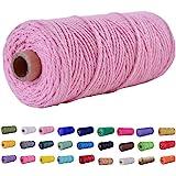 (109 Yards/2mm/19 Colors Optional) Macrame Cord Craft Macramé Cotton Baker Twine Craft Making Knitting Cord Rope DIY Wedding