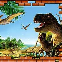 Ljjlm カスタム写真壁紙3D立体Hd壁恐竜壁画ルームソファテレビの背景家の装飾の壁紙-200X150CM