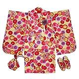 七五三 着物 3歳 被布セット 女の子 着物 きもの 「 万華鏡 (れもん色) 」 753 しちごさん 三歳 3歳 三ツ身 お祝い着