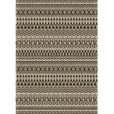 RUGGABLE Washable Indoor/Outdoor Stain Resistant Area Rug 2pc Set (Cover and Pad) Cadiz Espresso (152 x 213cm)