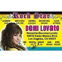 4つの楽しいNroiddl Demi Lovatoの運転免許証にサインします